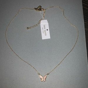 NEW KATE SPADE MOTHER OF PEARL BUTTERFLY NECKLACE